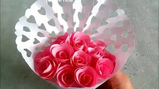 як зробити з паперу букет квітів для мами