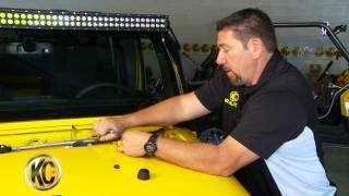 Kc Hilites Install: Jeep Jk Hood Mount Bracket #367