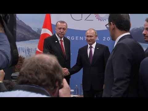 Russian and Turkish leaders at G20 summit