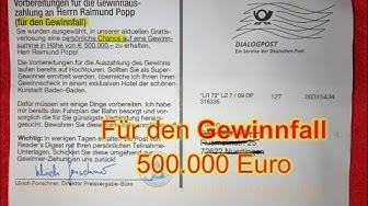 Möglicher Gewinnfall von 500000 Euro als Butterfahrten
