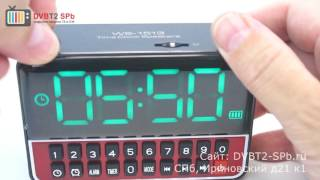 WS-1513 - обзор радиоприёмника с USB, SD и часами