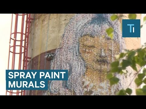 Estonian Inventor Creates Huge Mural With Robotic Spray Painter