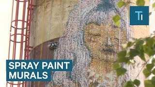Estonian Inventor Creates Huge Mural With Robotic Spray Painter