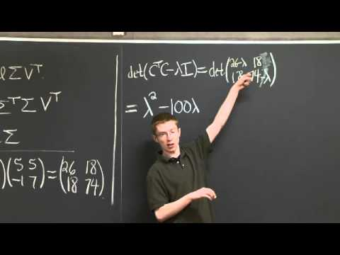 Computing the Singular Value Decomposition | MIT 18.06SC Linear Algebra, Fall 2011