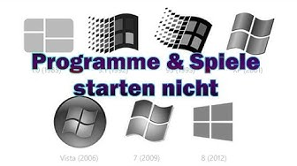 Windows Lösung - Programme & Spiele starten nicht
