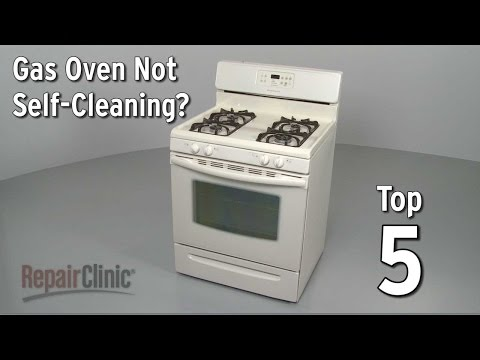 Gas Oven Won't Self-Clean — Gas Range Troubleshooting