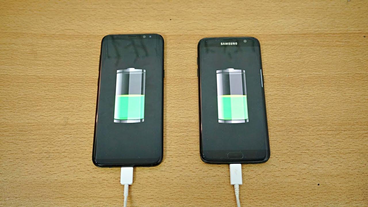 Samsung Galaxy S8 Plus vs S7 Edge - Battery Charging Speed Test! (4K)