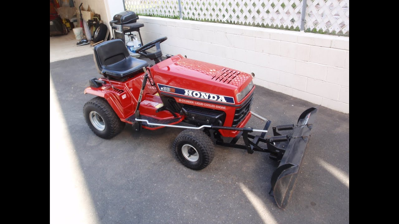 Honda Garden Tractors : Honda ht tractor with snow plow for sale north
