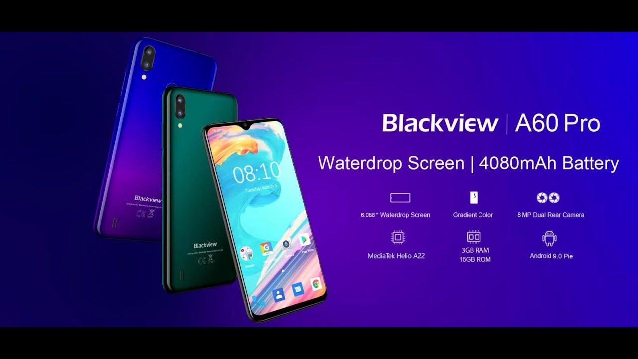 Official 3D graphic video of Blackview A60 Pro, MT6761, 4G, and 4080mAh  battery