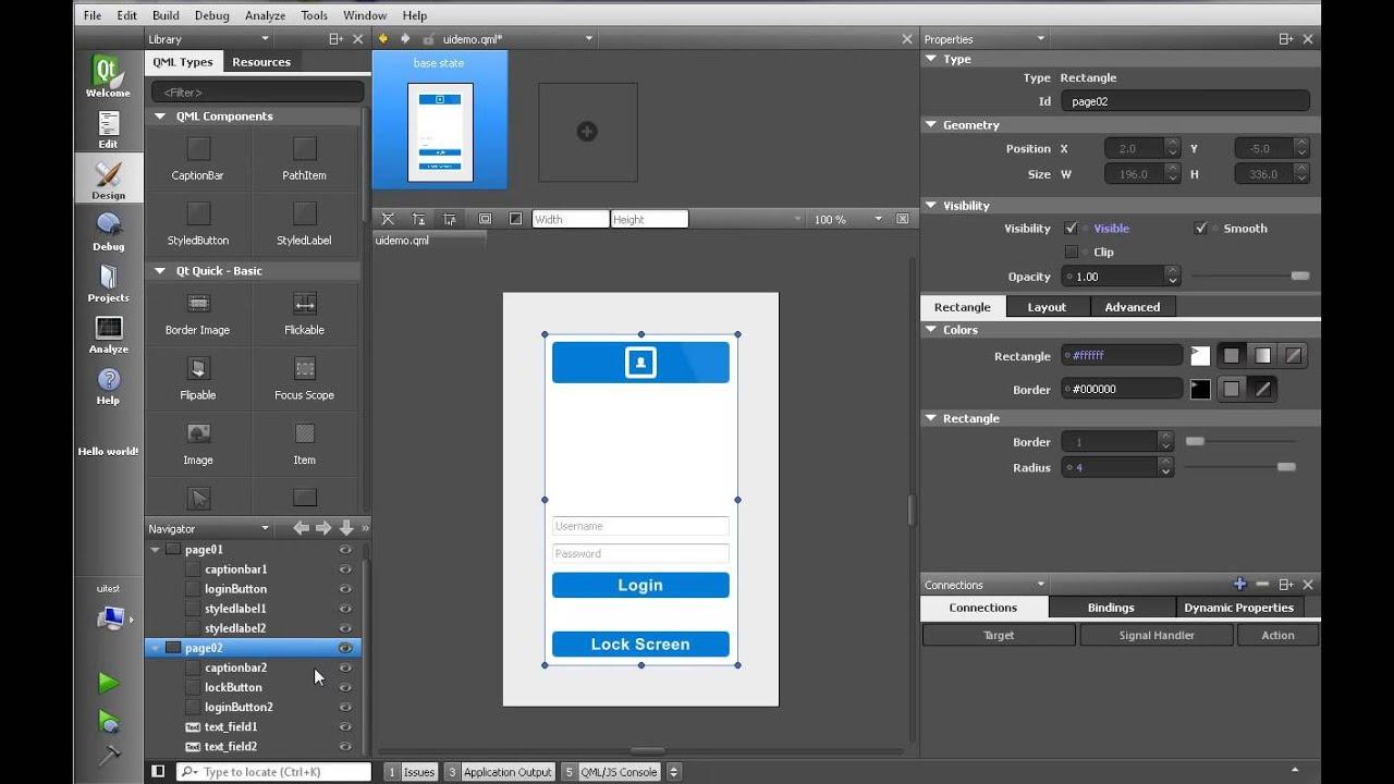 Qt Quick Designer - YouTube