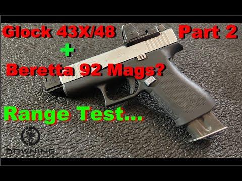 Beretta Mags Work In Glock 48/43X!? Part 2 - Range Test