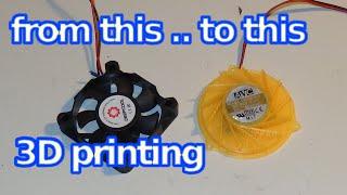 3D printing How to Repair Blower Fan using PC Fan