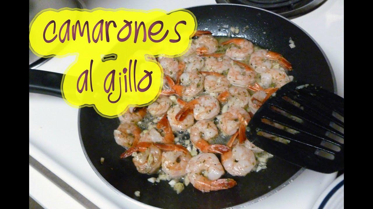 Como cocinar camarones al ajillo youtube - Como hacer espaguetis al pesto ...