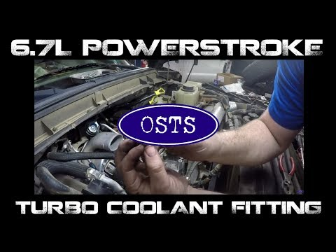 Ford 6.7L Powerstroke Turbo Coolant Fitting Replacement