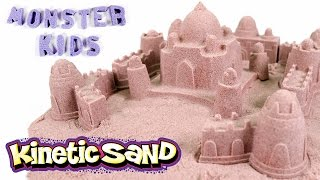 Kinetic Sand Castle ! How To Make Sandcastles Fun | MonsterKids