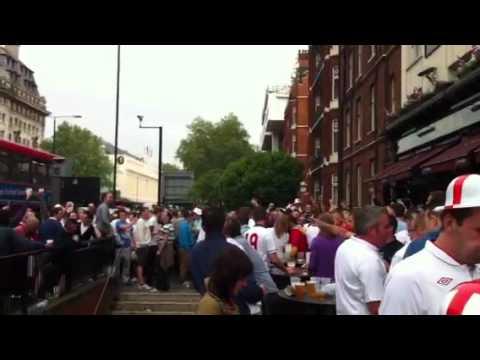 Globe pub England vs Belgium friendly