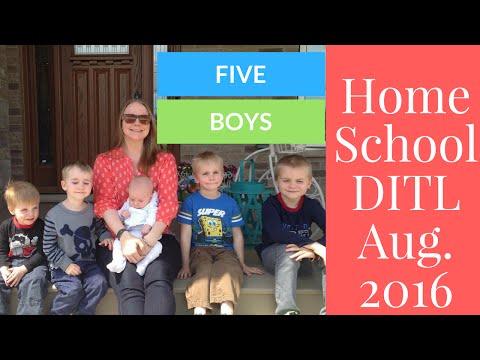 Homeschool DITL - five kids!