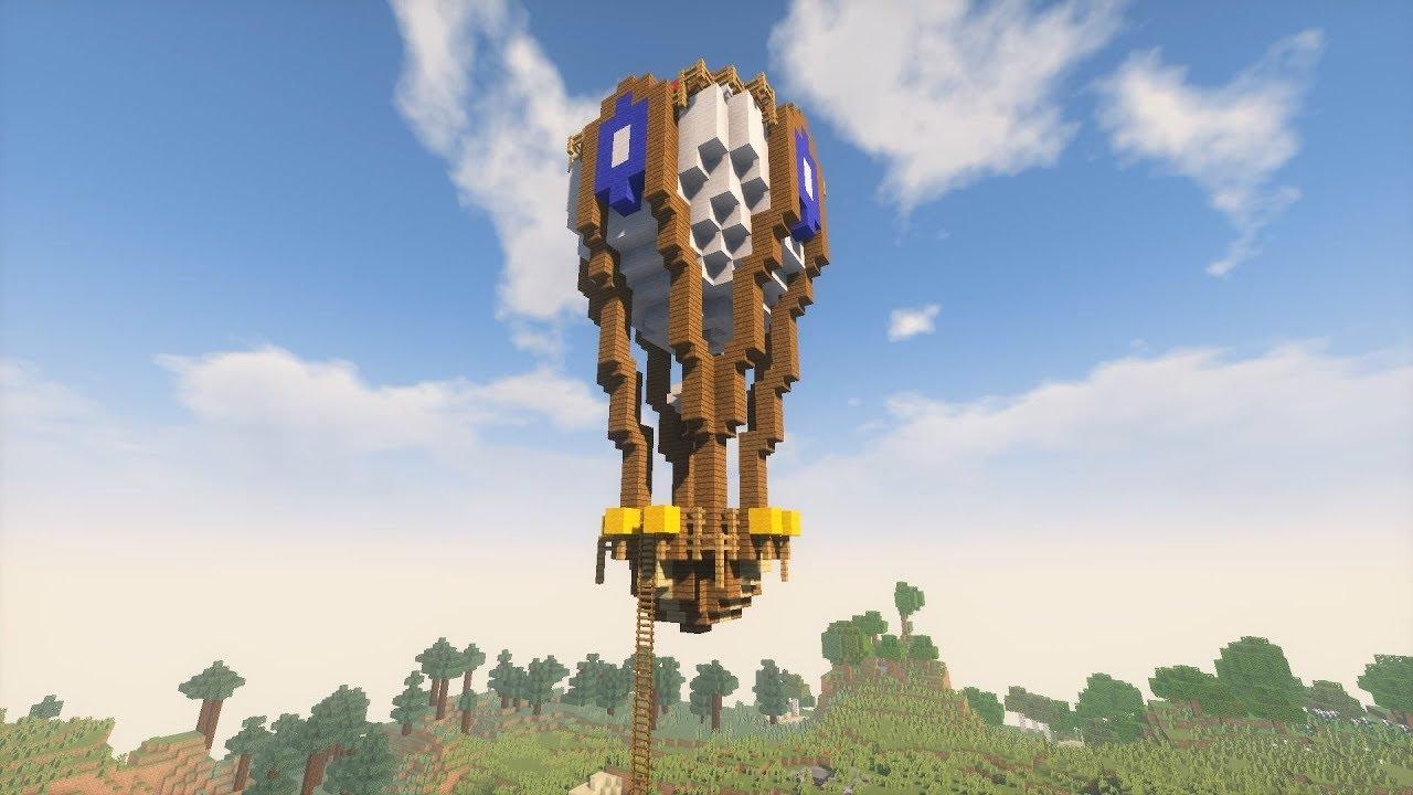 Воздушный шар в майнкрафт схема
