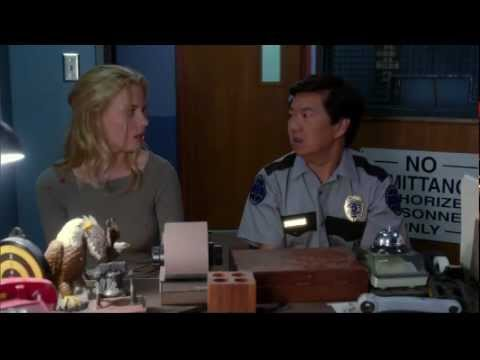 Britta slaps Chang - Community - Gillian Jacobs and Ken Jeong