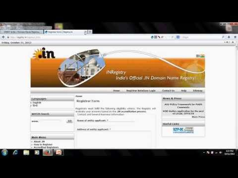 process of registering domain extentions - .ac.in and .edu (tutorial - 4)