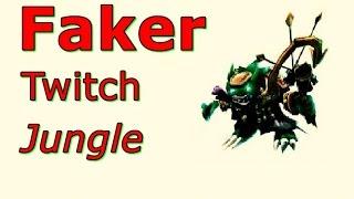 LOL Pro - Faker Twitch Jungle - Korea SoloQ (Full game)
