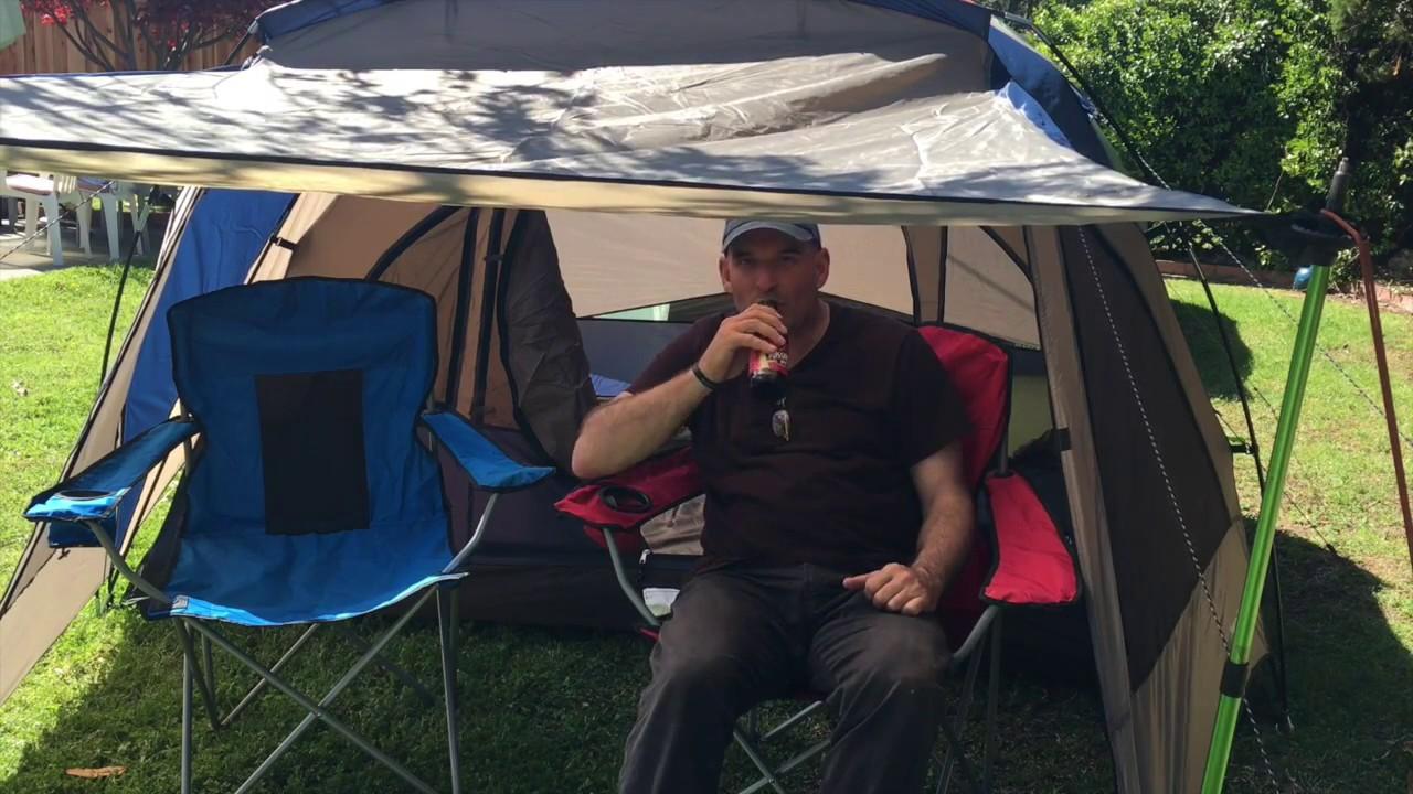 Field u0026 Stream Wilderness Lodge 4 person dome tent with a vestibule & Field u0026 Stream Wilderness Lodge 4 person dome tent with a ...