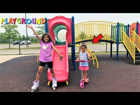Outdoor Playground For Kids!! Family Fun Playtime At The Park
