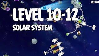Angry Birds Space Solar System 10-12 Walkthrough 3-Star