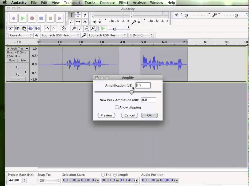 recording audio from youtube audacity mac