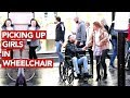 Picking up girls in wheelchair