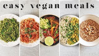 EASY AND DELICIOUS VEGAN MEALS | 5 Simple Beginner Recipes