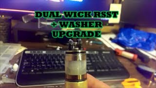 "Custom Dual Wick ""Double Barrel"" RSST RBA with SS Cable, SS Mesh and Cotton Wrap"