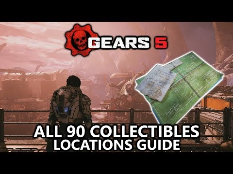 Gears 5 - Collectibles Guide Locations - All 90 Campaign Collectibles