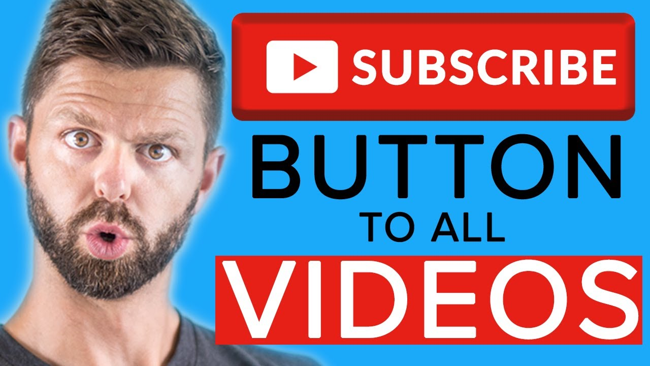 How to Add a Subscribe Button to your Video 2021 YouTube Studio