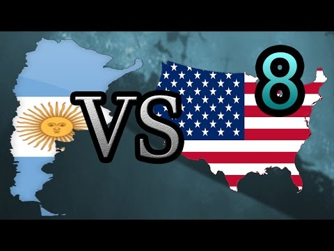 Argentina vs USA [8] Hearts of Iron IV HOI4