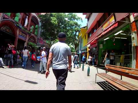 Pasaje Comercial - Pedestrian Shopping Street in Medellin Colombia