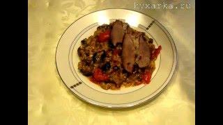 Баранья лопатка тушеная с овощами и рисом