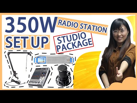 How To Set Up A Professional FM Radio Station Studio With 350w FM Broadcast Transmitter Package?