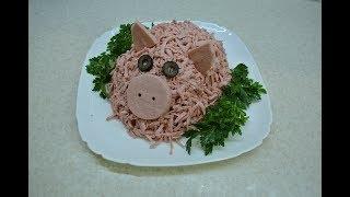 Салат Оливье  - классический рецепт с необычной подачей