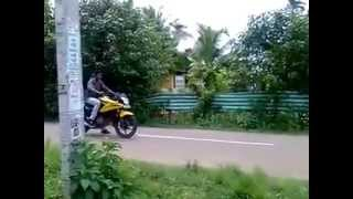 Funny south indian bike stunner causes accident!!