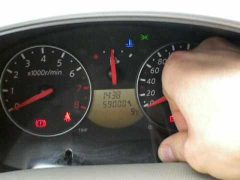nissan micra  azzeramento chilometri servizio service