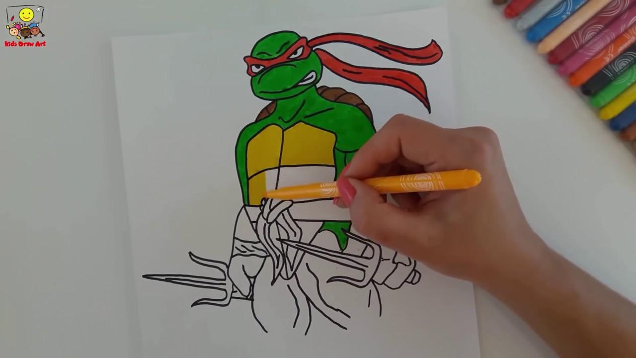 Ninja Kaplumbagalar Raphael In Guzel Bir Cizimi Youtube