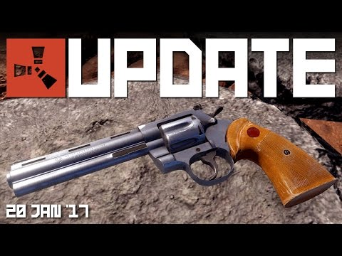 PYTHON revolver, FARMING 1.7 | RUST update news video 20 JAN '17