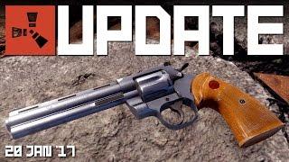 PYTHON revolver, FARMING 1.7 | RUST update news video 20 JAN '17