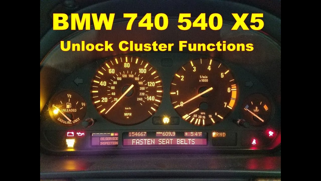 Dash Cluster Gauge Unlock Test Functions Bmw X5 740 540 Youtube 2002 Fuse Box Premium