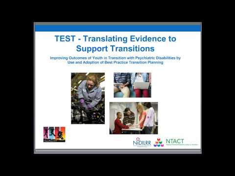 Research to Practice in the NIDILRR Community: Translating Evidence to Support Transitions