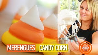 como hacer merengues de colores candy corn themed meringue verosweethobby