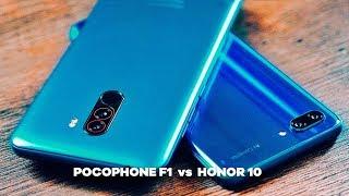Xiaomi POCOPHONE F1 vs Huawei HONOR 10! QUAL É O MELHOR?  Comparativo. USB #1
