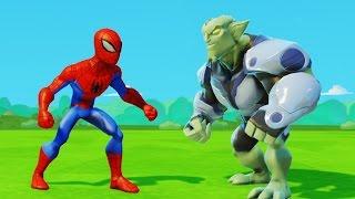 Человек-Паук против Зелёного гоблина и приключения машинок Тачки Дисней Spider-Man & Green Goblin