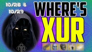 where s xur xurs location today october 28 october 29 10 28 10 29